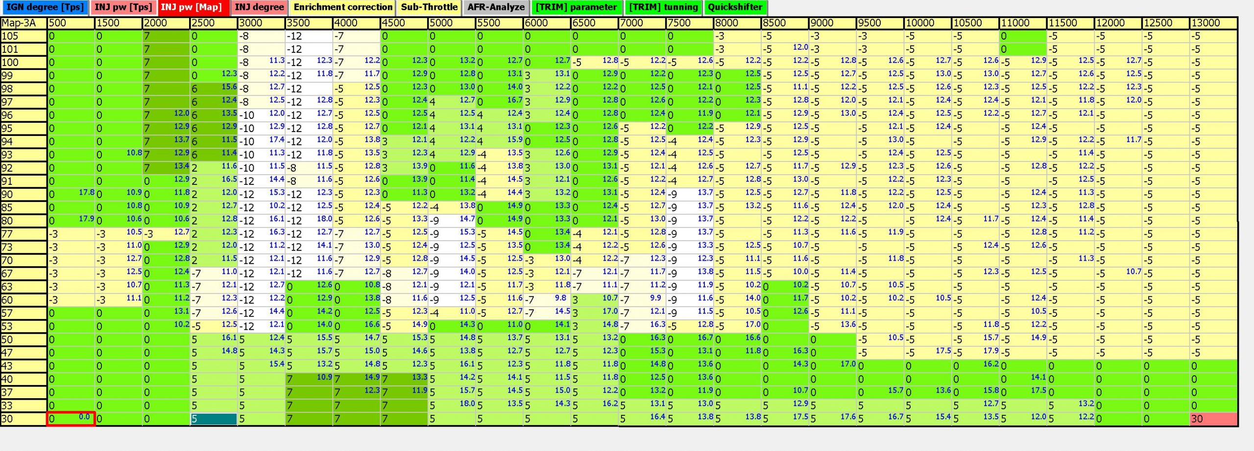 apitech map table tuning with afr
